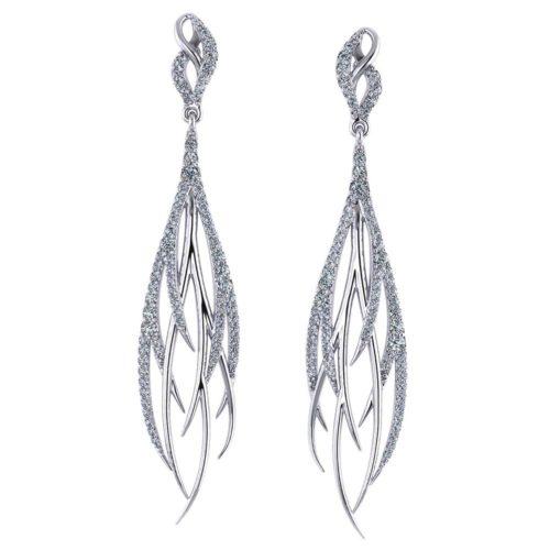 Streaming Diamond Dangle Earrings
