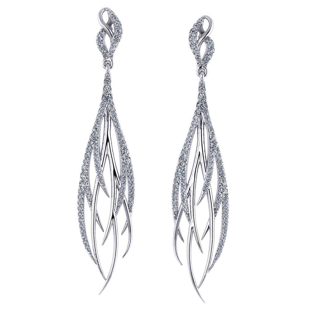 Streaming Diamond Dangle Earrings - Jewelry Designs a1e624c27