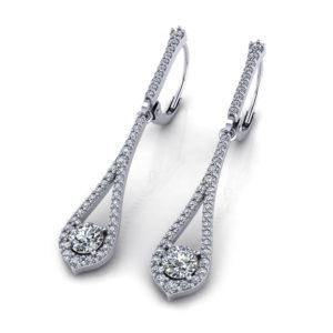 Dangling Diamond Earrings