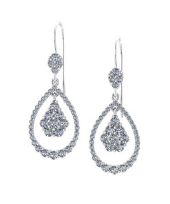 Swinging Teardrop Diamond Earrings