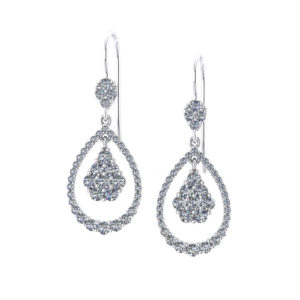 Swinging Teardrop Diamond Earrings
