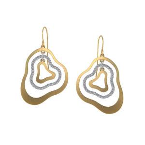 Gold Diamond Dangle Earrings