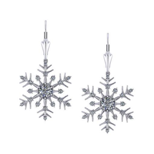 Diamond Snowflake Earrings