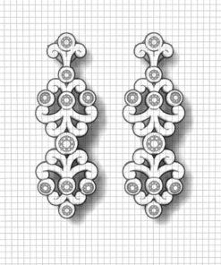 Diamond Spray Earrings