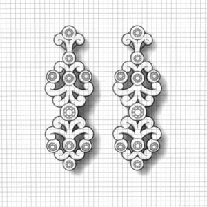 Diamond Spray Earrings
