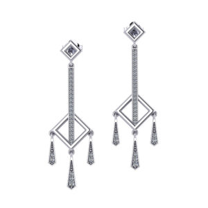 Diamond Square Dangle Earrings