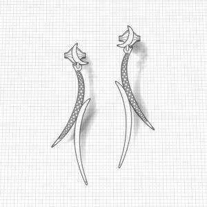 Crescent Dangle Earrings