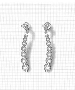 Diamond Crescent Earrings
