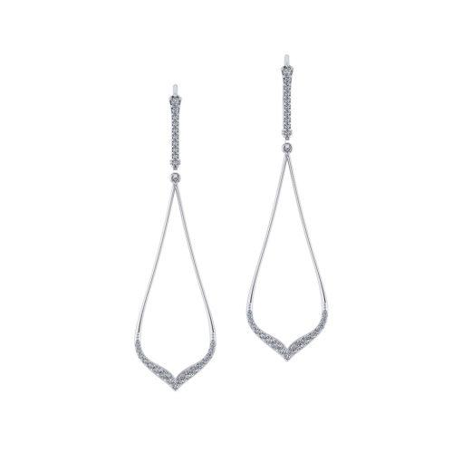 Delicate Diamond Drop Earrings