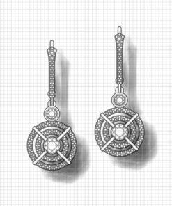 Double Halo Dangle Earrings