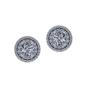 $6140 Double Halo Diamond Earrings