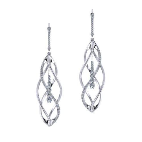 Helix Diamond Earrings