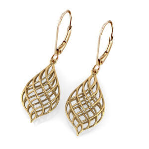 Woven Gold Earrings