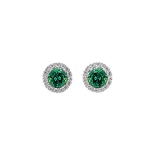 Emerald Halo Earrings