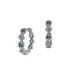 Diamond Emerald Huggies