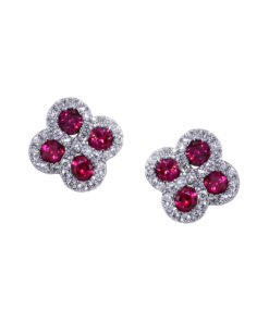 Diamond Ruby Earrings
