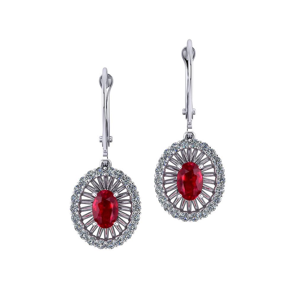 Ruby Diamond Dangle Earrings Jewelry Designs