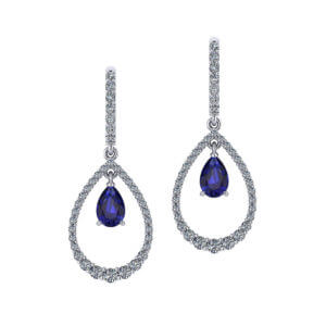 Teardrop Sapphire Earrings