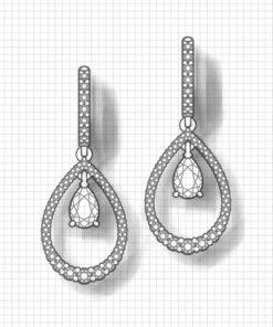 Teardrop Sapphire Earrings