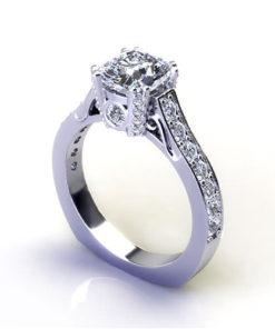 Cushion Diamond Engagement