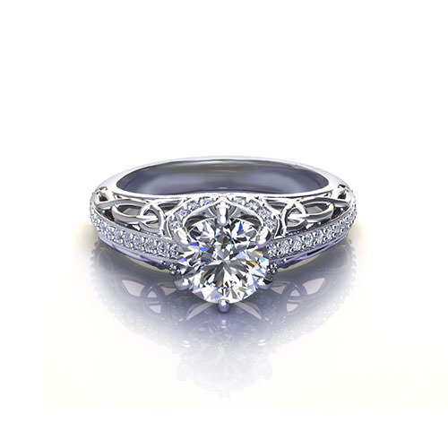 Trinity Knot Engagement Ring