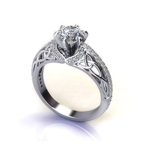 trinity knot engagement ring jewelry designs