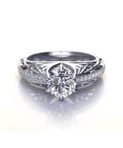 Open Weave Engagement Ring