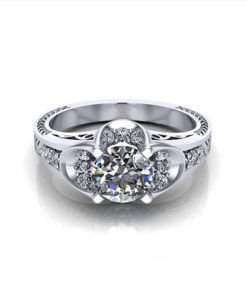 Art Deco Buttercup Engagement Ring