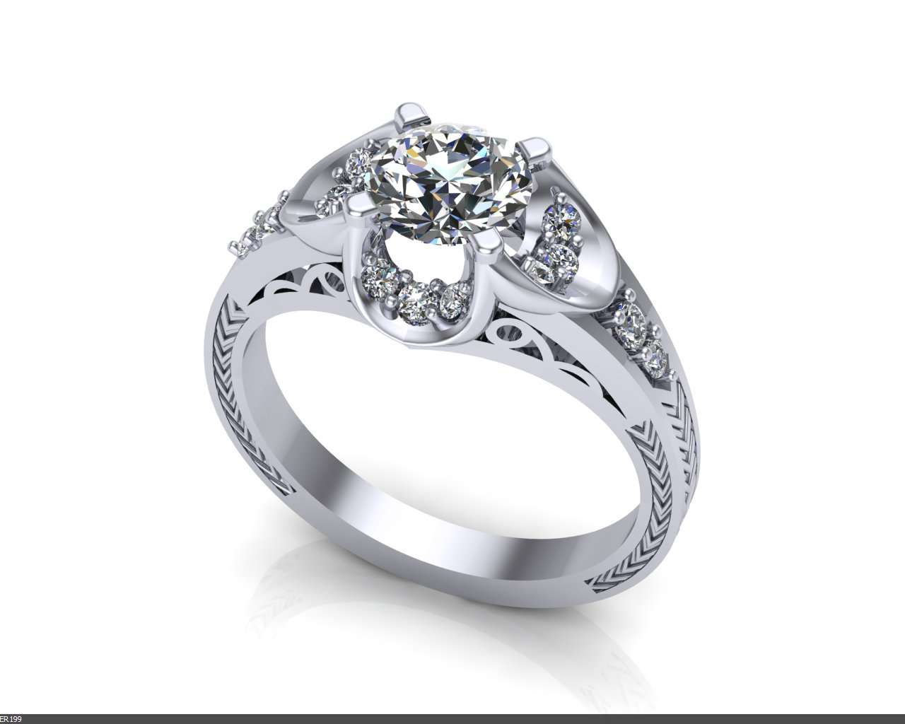 deco buttercup engagement ring jewelry designs
