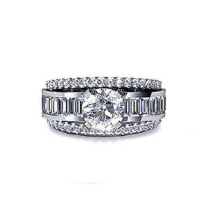 Baguette Diamond Engagement Ring