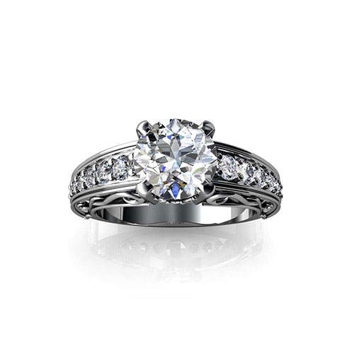 Scrolling Engagement Ring