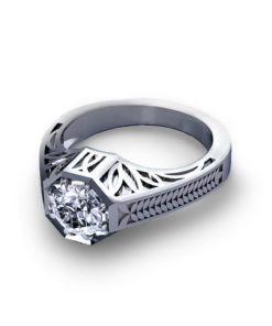 Octagonal Engagement Ring