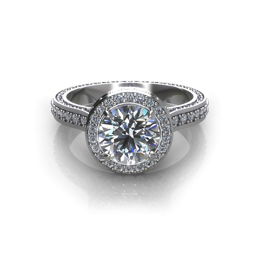 Ornate Halo Engagement Ring