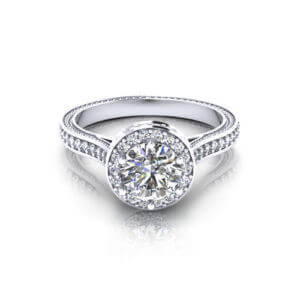 Designer Halo Engagement Ring