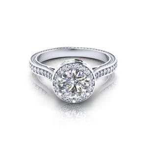 Designer Halo Engagement Ring