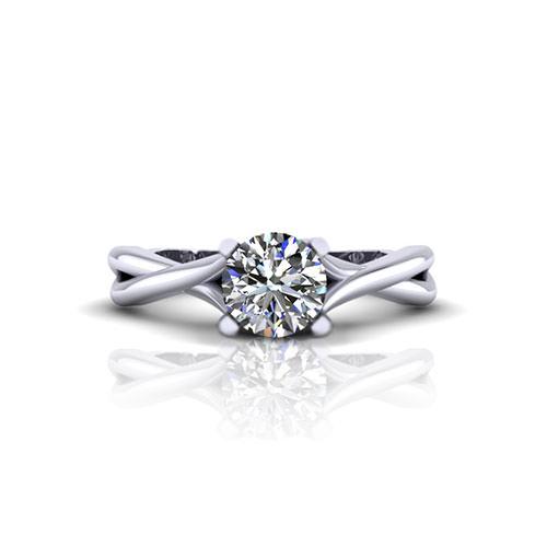 Infinity Lattice Engagement Ring