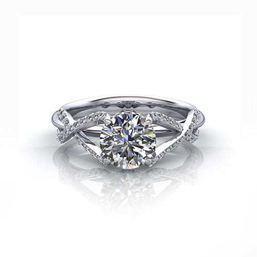 Crossover Engagement Ring