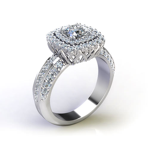 Cushion Cut Diamond Engagement Rings
