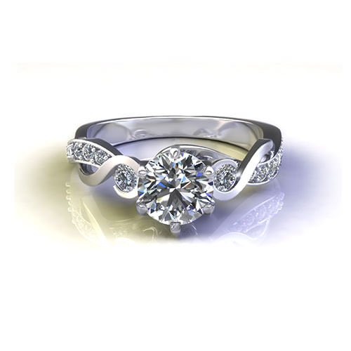 Curl Engagement Ring