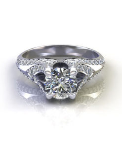 Fluted Engagement Ring
