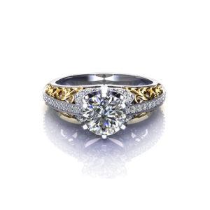 Filigree Engagement Ring