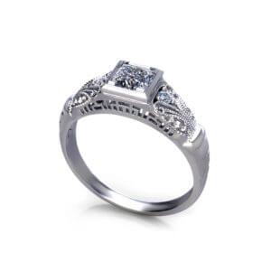 Vintage Princess Engagement Ring