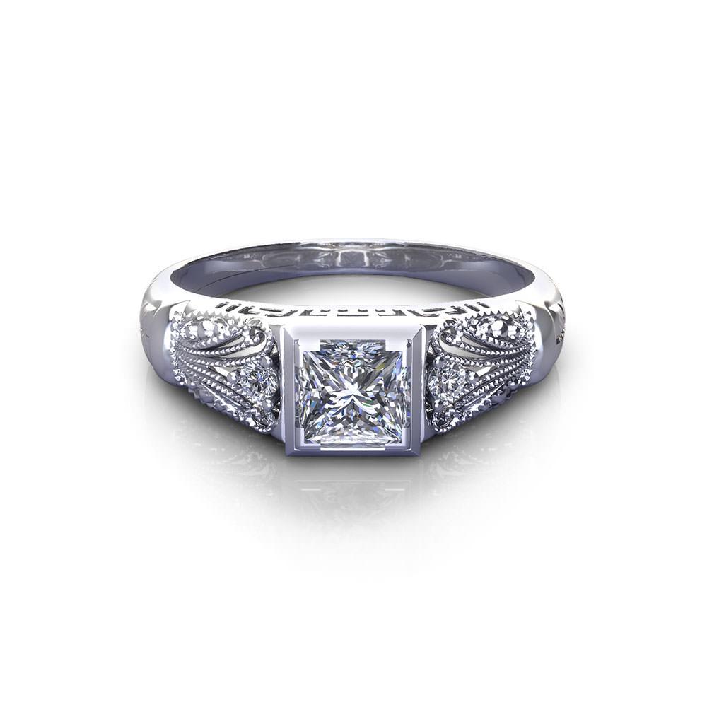 vintage princess engagement ring jewelry designs. Black Bedroom Furniture Sets. Home Design Ideas