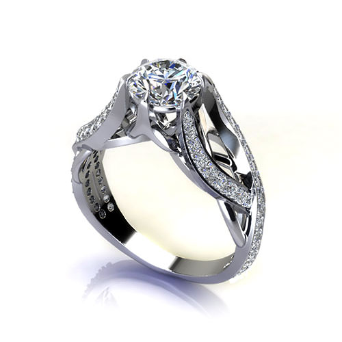 Crossover Weave Engagement Ring
