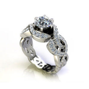 Wid Woven Engagement Ring