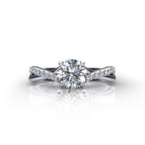 Crossover Trellis Engagement Ring