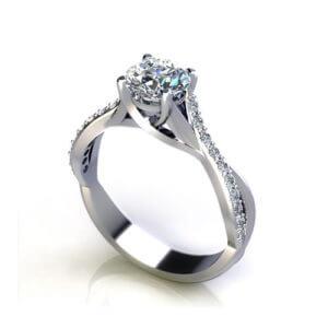 Crossover Trellis Engagement Ring