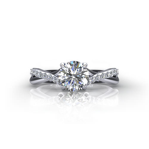 rings ring angle engagement diamond five trellis stone