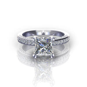 Platinum Princess Engagement Ring