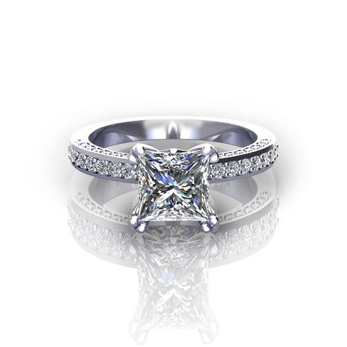 Platinum Princess Engagement Ring